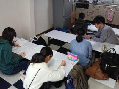 【第2回 冬季高校受験対策教室/自習教室】活動報告 with たくみん